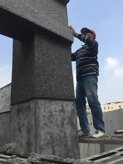 高雄林園區黃大姊 牌樓抿石工程