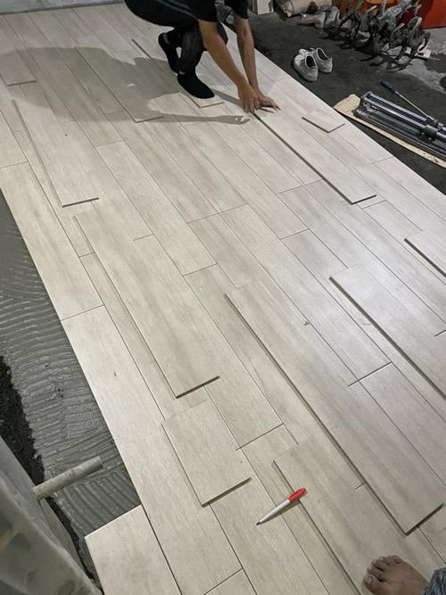 屏東市林小姐 浴室興建 水切機壁磚