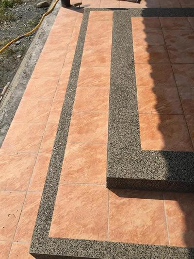 屏東高樹鄉抿石工程 宜蘭石抿石工程及斜坡製作-抿石子及洗石子