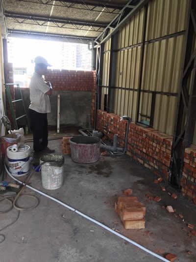 高雄蔡先生 浴室增建及砌磚-蓋房子