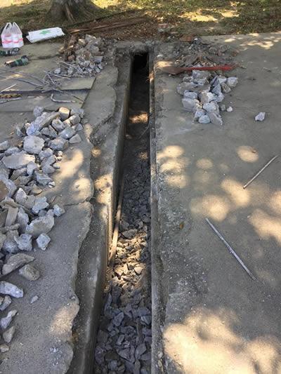 屏東某部隊道路翻修 道路整修-抿石子及洗石子