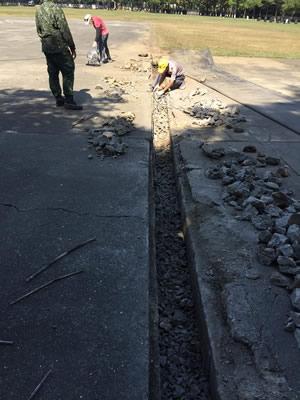 屏東軍隊部隊 道路翻修道路整修-蓋房子